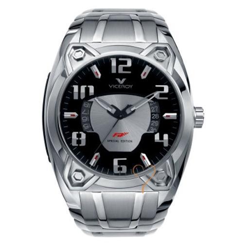 nuevo estilo 0ace4 7f8ec Viceroy Fernando Alonso Black Dial - Stainless Steel Bracelet Watch
