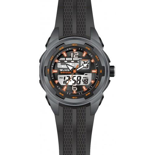 Ρολόι JAGA Sport Anadigi All Black Rubber Strap  a2687bc76a0