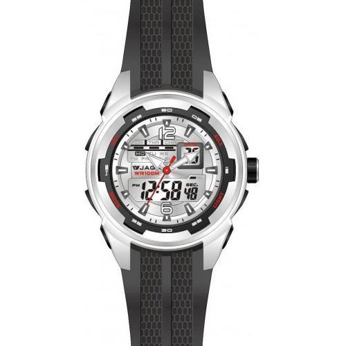 Ρολόι JAGA Sport Anadigi Silver Black Rubber Strap  f52f88dc5fe