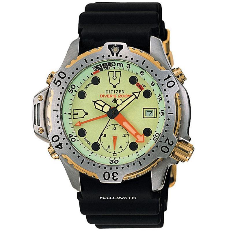 Citizen promaster aqualand divers black rubber strap watch - Citizen promaster dive watch ...