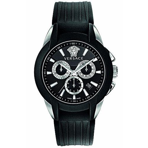 50ef3dfaab Ρολόι VERSACE Character Black Rubber Strap
