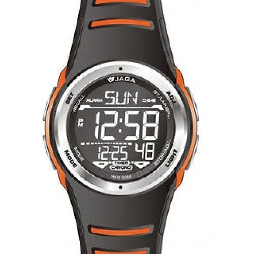 Ρολόι JAGA Sport Black Orange Rubber Strap  fd8723ce3a2