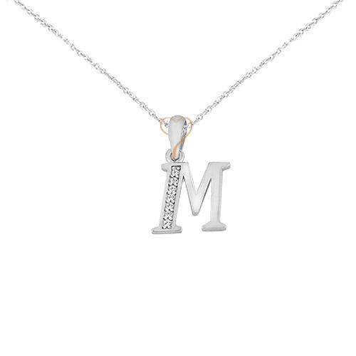 Silver White Gold K14 Monogram by AL ORO  7fad16665cb