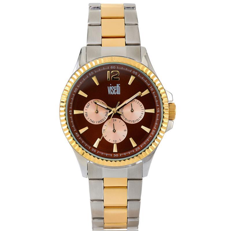 Visetti Attitude Series Two Tone Stainless Steel Bracelet Watch ... 48e47299a9c