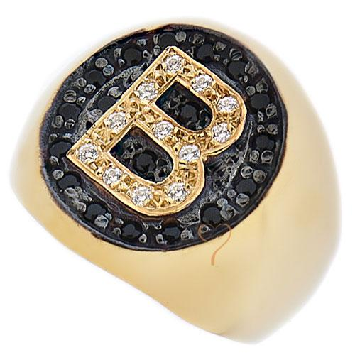 Δαχτυλίδι Chevalier Senza Ασημένιο Gold - Μονόγραμμα με Zircon ... 5616bfe3edc