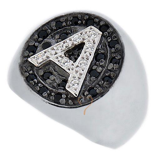 Δαχτυλίδι Chevalier Senza Ασημένιο - Μονόγραμμα με Zircon  fcc1d4f672a