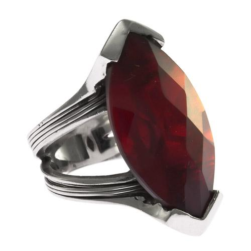 Δαχτυλίδι Senza Ασημένιο με Κόκκινη Πέτρα  d9e0a24d6e0