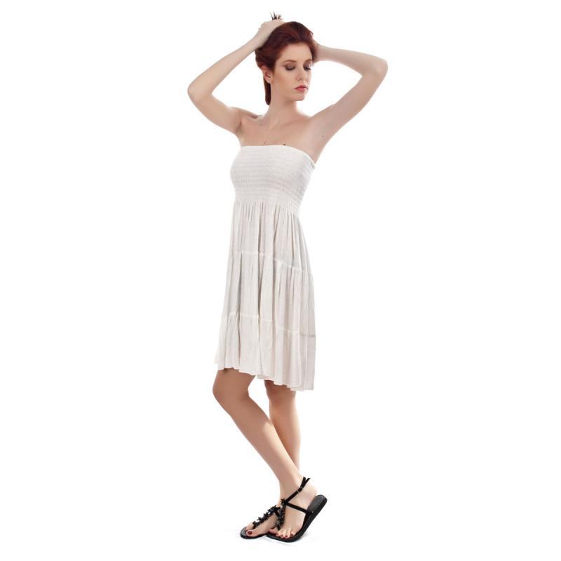 da068804d4cf White Viscose Dress by SENZA