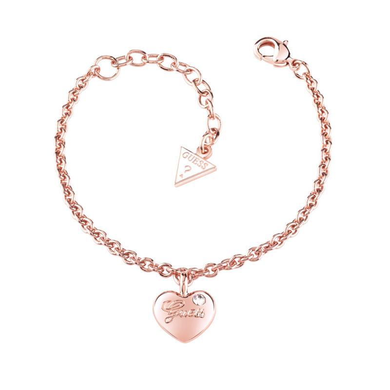 Βραχιόλι Guess Rose Gold Heart  0a163c43420