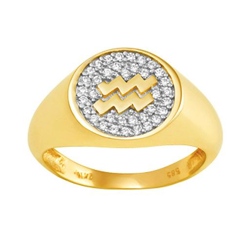 Gold White Silver Chevalier Ring by SENZA  1605712314c