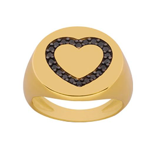 Gold Black Silver Chevalier Ring by SENZA  0fdb26b55f3