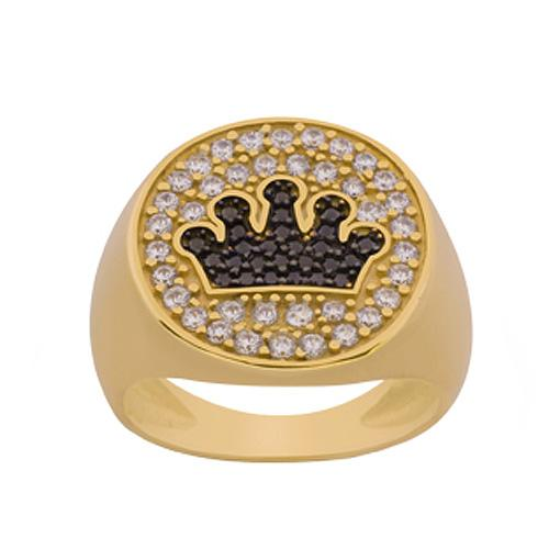 Gold Black White Silver Chevalier Ring by SENZA  f827c905d9d