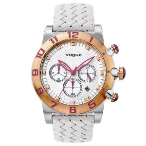 Vogue Allure Chrono White Leather Strap Watch b59a1a46399