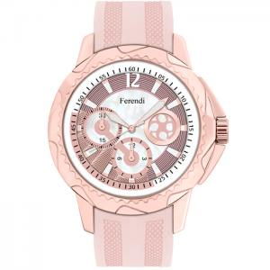 Ferendi Amethisia Ladies Pink Rubber Strap Watch d52946402ee