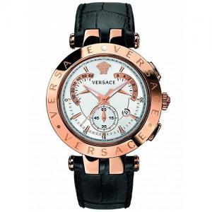 382ddb09e8 VERSACE V-Race Black Leather Strap Watch