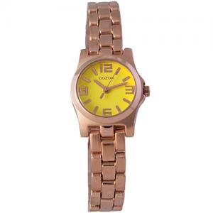 Oozoo Timepieces 21mm Yellow Dial - RoseGold Bracelet Watch d9ff3e19a3d