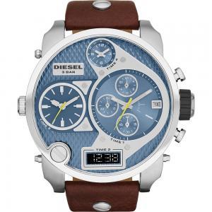 Diesel Mr. Daddy 2.0 Chrono Brown Leather Strap Watch ea1c8e8c167