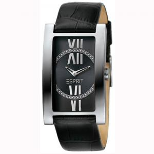 Esprit Lady Crystal Roman Black Dial and Leather Strap Watch e8e4751a9d0