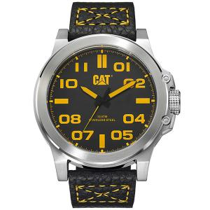 CATERPILLAR Chicago 3D Black Leather Strap Watch 8829020d0e5