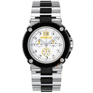 Caterpillar S3000 Chrono White Dial Stainless Steel Bracelet Watch d990493dd8b