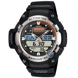 4e3e4ee1fb Casio Men s Collection LED Altimeter Black Rubber Strap Watch
