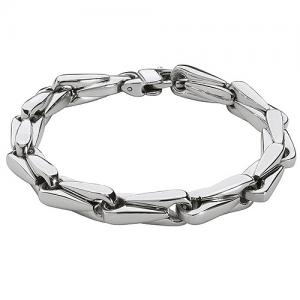 Silver Black Rose Gold Steel Bracelet by ROSSO AMANTE 11c0061309b